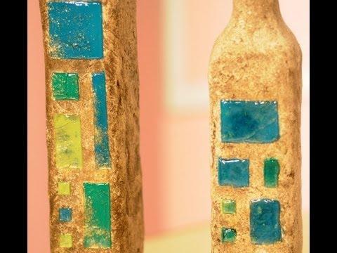 Reciclar Botellas - Papel Mache - Imitacion vidrios -
