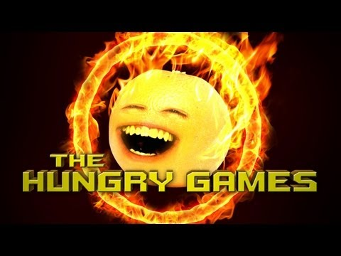Annoying Orange - The Hungry Games (Hunger Games SPOOF), There can only be one survivor in the kitchen arena! FREE version of my video game Kitchen Carnage: iTunes: http://bit.ly/AOKitchenCarnageLite Android: http:...