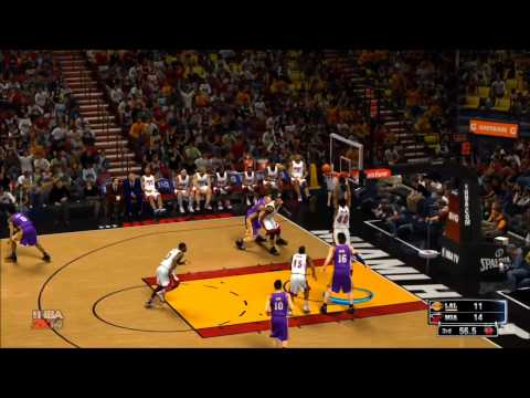 NBA 2K14 - Los Angeles Lakers vs Miami Heat Gameplay [HD]