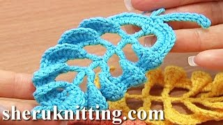3D Crochet Leaf Tall Stitches Tutorial 28 Part 1 Of 2