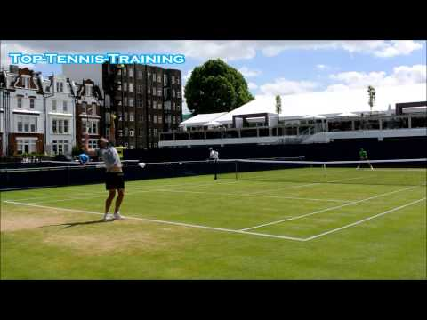 Marinko Matosevic Serving-Court Level View