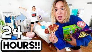24 HOUR OVERNIGHT ROOM CHALLENGE!!  *I went crazy*