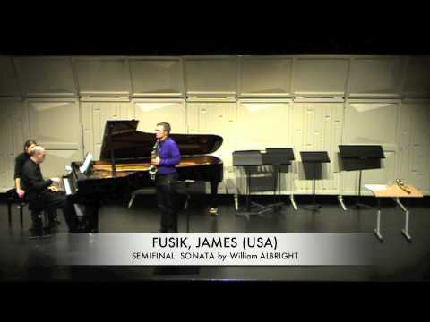 FUSIK, JAMES (USA) SONATA by WIlliam  ALBRIGHT