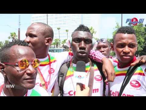 لاعبون غينيون معجبون بالدارالبيضاء و المغرب