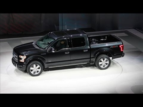 Ford Introduces Aluminum-Constructed F-150 | Detroit Auto Show 2014, Ford kicked off the 2014 North American International Auto show in Detroit by unveiling its new F-150. It's the first full-body truck to be constructed from aluminum.
