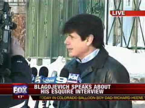 1/11/10 Rod Blagojevich Comments On Quotes In Esquire Magazine