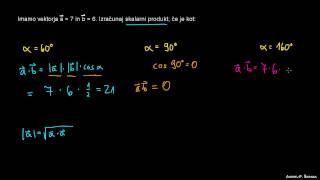 Skalarni produkt – primer 2