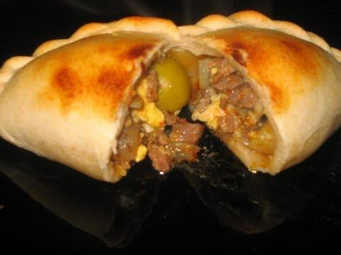 RECETA EMPANADAS DE PINO(CARNE) AL HORNO TIPICAS DE CHILE (typical food of chile) COCINA CONMIGO :)
