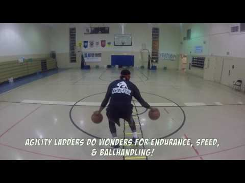 Mastering Agility Ladder Footwork with Ball handling!