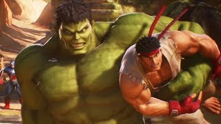 HULK and RYU Team Fight Scene (MARVEL vs. CAPCOM: INFINITE)