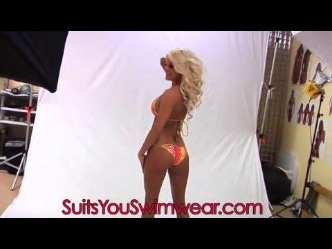 Marissa Everhart Models Scrunch Bikinis
