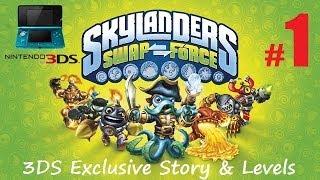 Lets Play Skylanders Swap Force Nintendo 3DS Part 1 + Sky