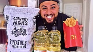 DIY MCDONALD'S FRENCH FRIES!! (How To Make McDonald's French Fries)
