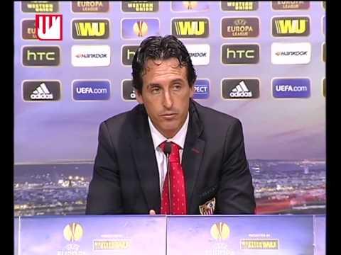Rueda de prensa Unai Emery Slovan Liberec. Sevilla FC