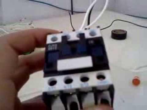 Comandos elétricos - O contator - Prática.