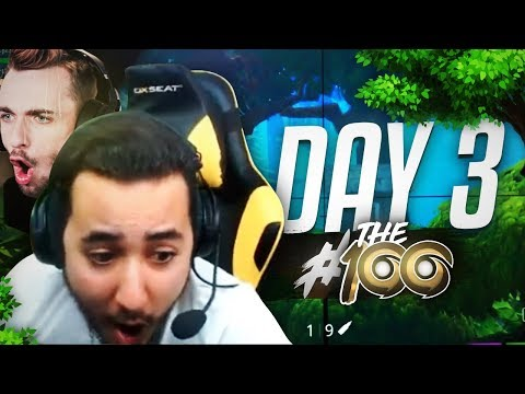 #GotagaTHE100 I DAY 3 I La Squad LeStream (ft. Squeezie - Skyyart - Yannou)