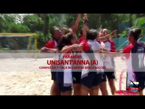 Vídeo da I Taça Mulher de Beach Soccer realizada na Arena Pelezão em 08/03/2014