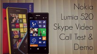 Nokia Lumia 520 Skype Video Call Test & Demo