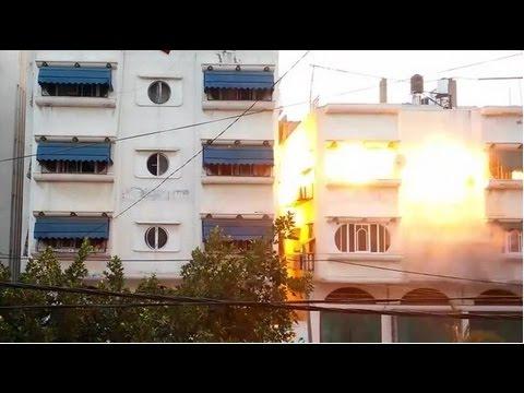 Israel's Air Strike Destroy Gaza House
