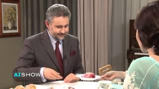 Marius Lazurca gustă din bucatele propuse de AISHOW