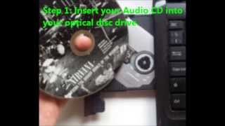 How To Convert Audio CD To Mp3 / Rip Music From A CD Using