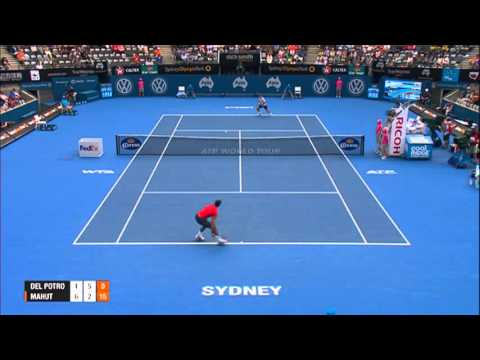Juan Martin DEL POTRO (ARG) vs Nicolas MAHUT (FRA) HIGHLIGHTS Apia International Sydney 2014