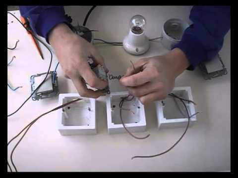Instalaci n de punto de luz conmutado con cruzamiento - Interruptor de cruce ...