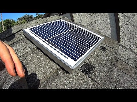 DIY Solar Attic Fan Install