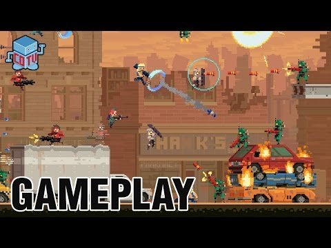 Super Time Force ATLANTIS Gameplay