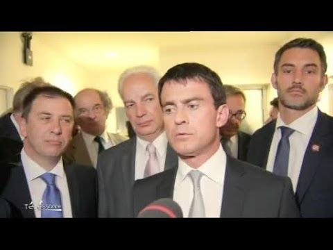 Grève SNCF : Interview de Manuel Valls à Evry (Essonne)