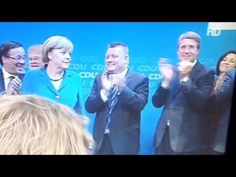 Angela Merkel hates nationalistic symbols. She's as European as German ! BRAVO!