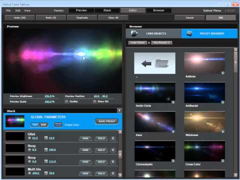 VIDEOCOPILOT: Optical Flares : Pro Presets 2 Product Tour