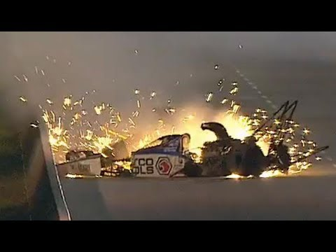 Antron Brown Big Crash @ 2014 NHRA Atlanta