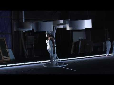 Lady Gaga introduces VOLANTIS, the World's First Flying Dress, Built by the TechHaus, the technical division of the Haus of Gaga, Volantis is the world's first flying dress!