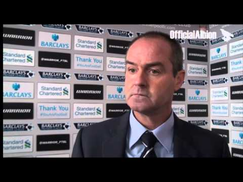 Steve Clarke on Albion's defeat at Anfield