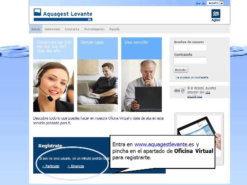 oficina virtual aquagest levante youtube