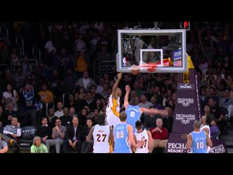 Wesley Johnson Flies for the And-1 Posterizing Dunk on Danilo Gallinari