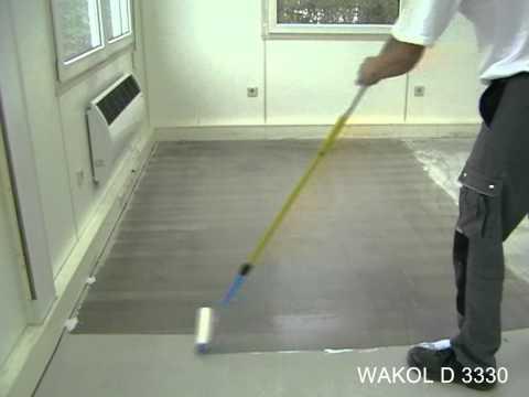Zasady stosowania WAKOL D 3330 Klej do wykładzin PCW Design