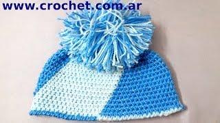 Gorro Argentino Con Pompón En Tejido Crochet Tutorial Paso