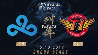 [15.10.2017] C9  vs SKT [Group Stage][CKTG2017][Bảng A]