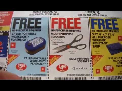 Harbor freight mailer free stuff coupons