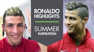 Cristiano Ronaldo New Summer Haircut With Highlights 2013