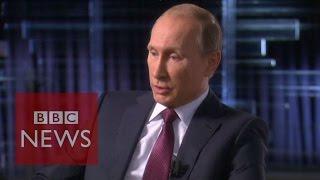 Syria conflict: Putin defends Russia's air strikes - BBC News