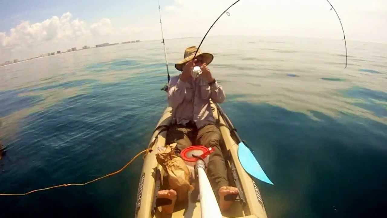 Destin offshore kayak fishing youtube for Youtube kayak fishing