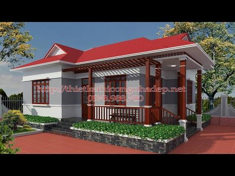Mẫu nhà cấp 4 mái thái nông thôn đẹp giá rẻ giá 450 triệu NDNC418.