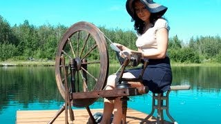 How To Spin Yarn On A Wheel Absolute Beginner Lesson