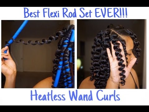 Natural Hair Flexi Rod Set l Heatless Wand Curls