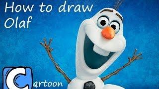 How To Draw Olaf Como Dibujar A Olaf