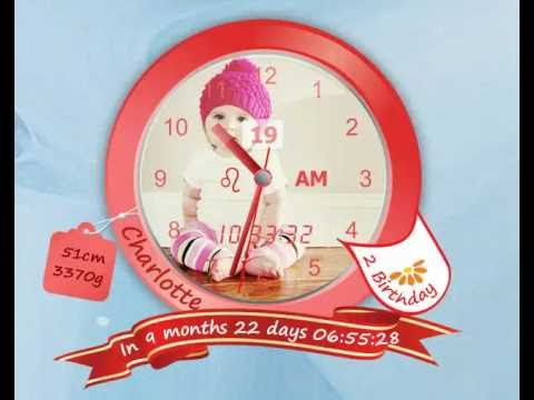 [Image: create your child Baby desktop clock App - Charlotte Design, App uses high fidelity vector graphics]