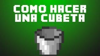 Minecraft: Como Hacer Una Cubeta